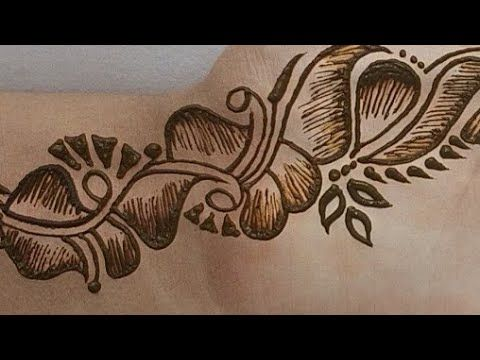 shaded mehndi arabic mehndi design back hand