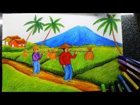 Lukisan Pemandangan Sawah Di Desa Cara Menggambar Pemandangan Sawah Dan Petani Download Terjual Lukisan Pemandangan Sawah Desa Di 2020 Pemandangan Gambar Lukisan