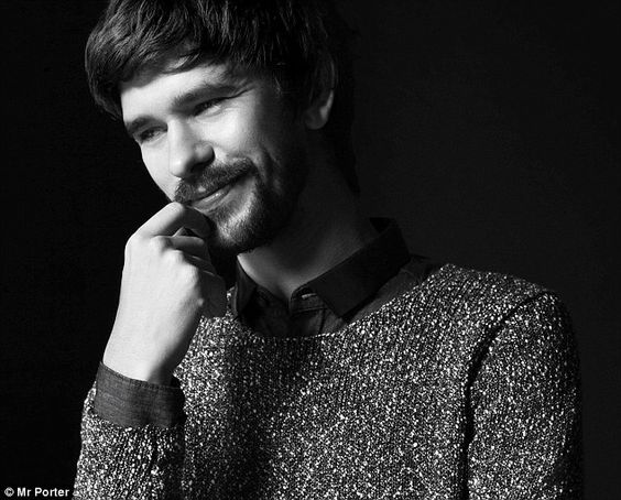 Skyfall's Ben Whishaw models for the new issue of Mr Porter. via dailymail.co.uk