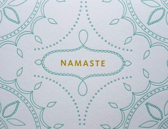 letterpress namaste • fine day press