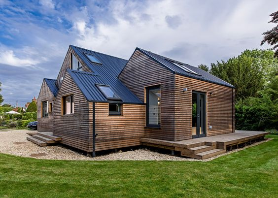 Good wood - smart architecture from Baca Architects, a flood resilient home by a lake in Oxfordshire, UK.