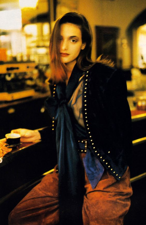 Stephen Wallis for Flare magazine, September 1989. Clothing by Yves Saint Lauren Rive Gauche.