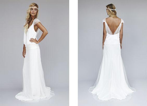 robes blanche robes mariees robe de mariee boheme chic robe de mariage ...