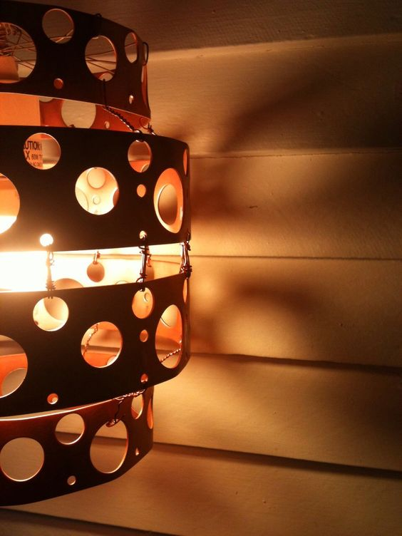 Copper Polka Dot Hanging Lamp by LitUpByTheCity on Etsy https://www.etsy.com/listing/99798963/copper-polka-dot-hanging-lamp