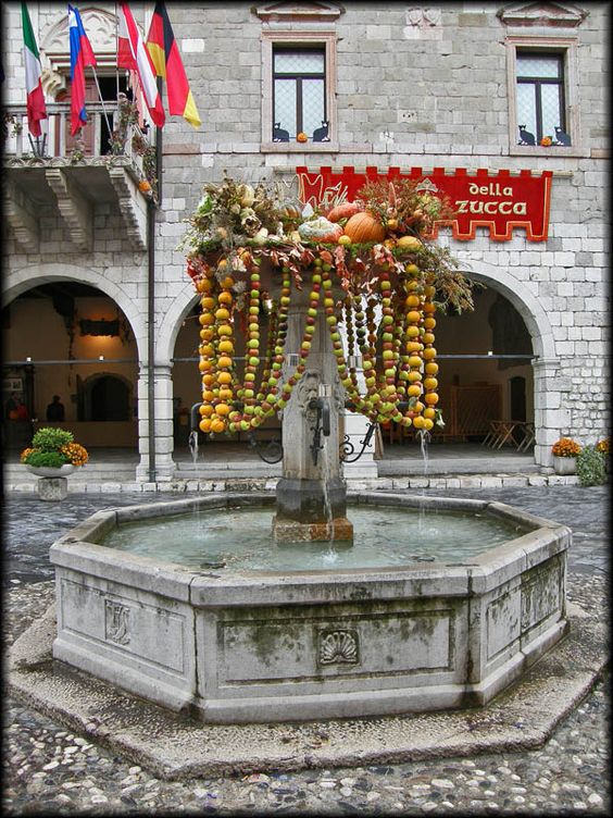The pumpkin day in Venzone, medieval village in the northest of Italy. Venzone is mentioned for the first time in 923 AD as Clausas de Albiciones. Local lord had it surrounded by a massive double line of walls starting from 1258. Venzone was acquired by the Patriarchate of Aquileia in 1336. In 1351 it became part of Austria and, together with the whole Friuli, from 1420 was province of Republic of Venice. After Austrian domination, it was annexed to the newly formed Kingdom of Italy in 1866.