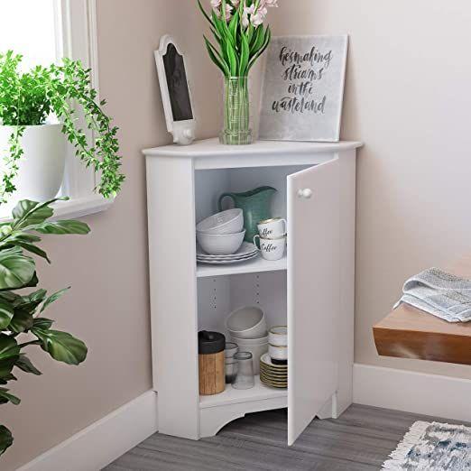 Prepac Elite Corner Storage Cabinet Elite Corner Storage Cabinet White In 2020 Corner Storage Cabinet Bathroom Corner Storage Cabinet Bathroom Corner Storage