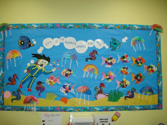 Board idea. Have each student create a fish