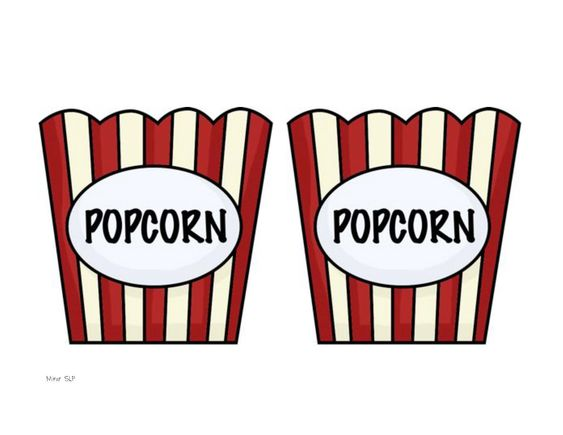 Popcorn kernels clip art and art on pinterest for Popcorn container template