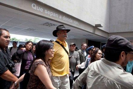 Mireles durante su visita a la UACM, en San Lorenzo Tezonco. Foto: Germán Canseco