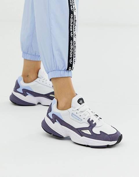 adidas Originals RYV Falcon sneakers in Shady blue | ASOS ...