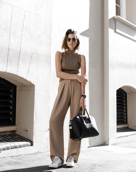 С чем носить бежевые брюки? (56 фото): женские стильные образы, с чем сочетать и сочетать, что одеть сверху, какую обувь выбрать