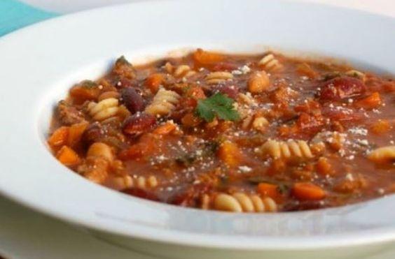 Olive Garden Slow Cooker Pasta Fagioli   Weight Watchers Recipes