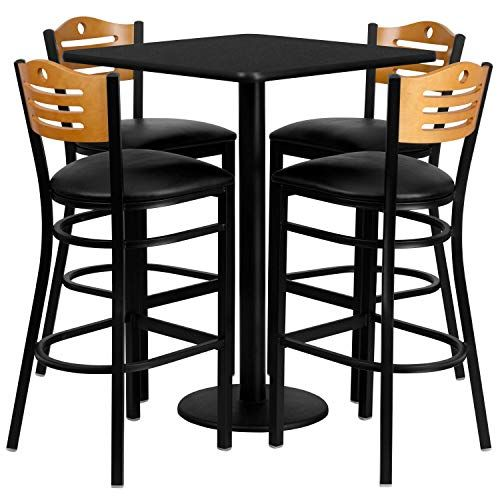 Cafe Tables And Chairs Benedict 30inch Pub Style Dining Set