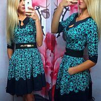 Mujeres del vestido del verano 2016 moda azul vestido ocasional atractivo del vestido de una pieza vestidos sukienka saty venta al por mayor envío gratuito
