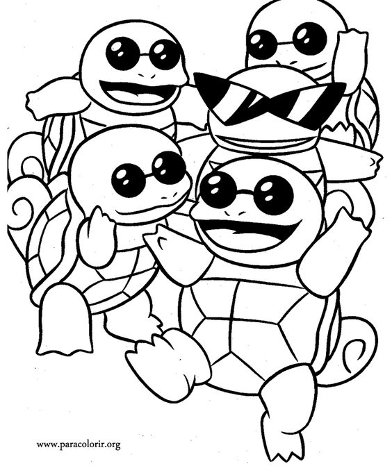 Pokemon Squirtle Squad Coloring Pages   pokeman ...