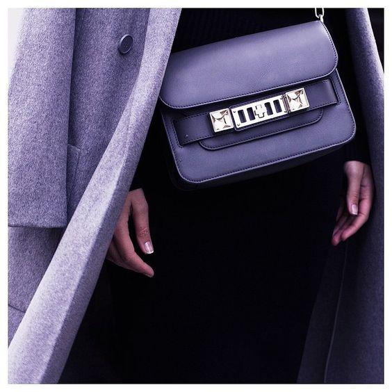 """""""Grey coat + grey bag  @liketoknow.it www.liketk.it/YGB2 #liketkit"""""""