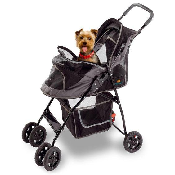 Carrinho para Cães Globetrotter Ferplast Preto - Ferplast com o melhor preço é no Walmart!
