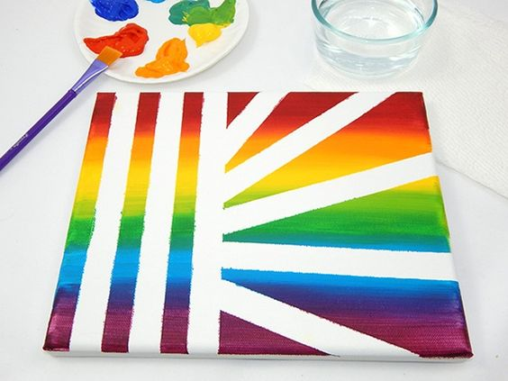 17 Best Images About Tape Resist Painting Crafts Home