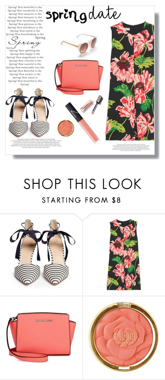 """""""Untitled #864"""" by calicali1810 ❤ liked on Polyvore featuring J.Crew, STELLA McCARTNEY, Michael Kors, Milani and NARS Cosmetics"""