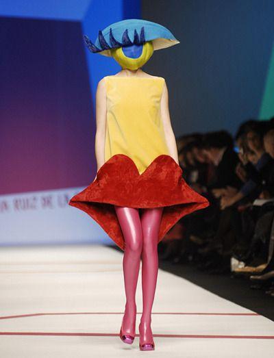 Agatha Ruiz de la Prada in the Group Board ♥ AVANT-GARDE FASHION www.pinterest.com/yourfrenchtouch/avant-garde-fashion                                                                                                                                                      More