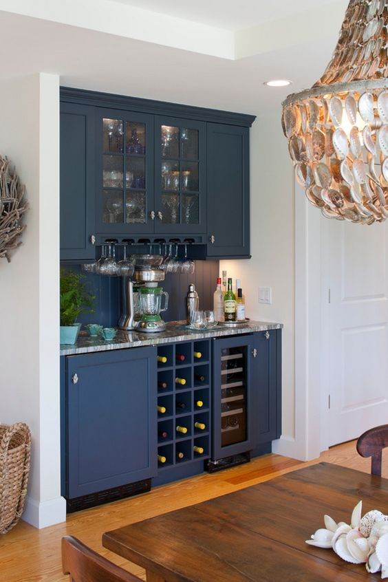 Would love to turn the nook in my living room into a wet - Built in home bar ...