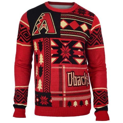 MLB Arizona Diamondbacks Klew Patches Ugly Sweater - Red