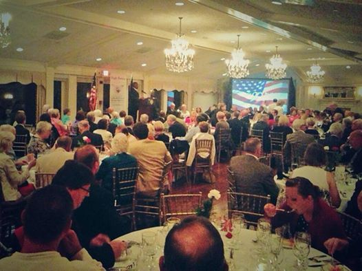 Full house tonight at Eagle Forum of Pennsylvania dinner in Pittsburgh, PA, to support Republicans in the state. Hearing from one of Eagle Forum's heroes, Lt. Col. Allen West! Aug. 20, 2014