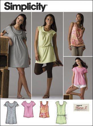 Jersey Knit Sewing Patterns : Knit jersey tunic/dress pattern My Style Pinterest Simplicity Patterns,...