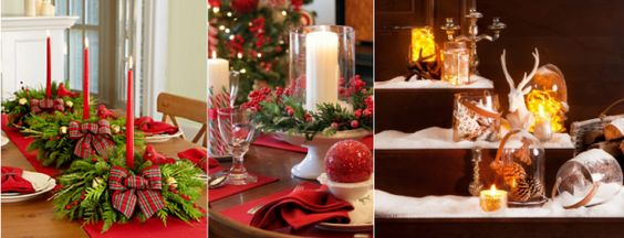 decoração de natal com velas