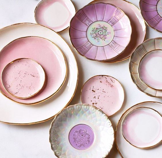 I finally caved and decided to share my vintage tableware collection/hoard with you guys and those fabulous pearlescent china plates are currently in stock! And clearly they'll look super pretty with your #suiteonestudio porcelain!  by suiteonestudio