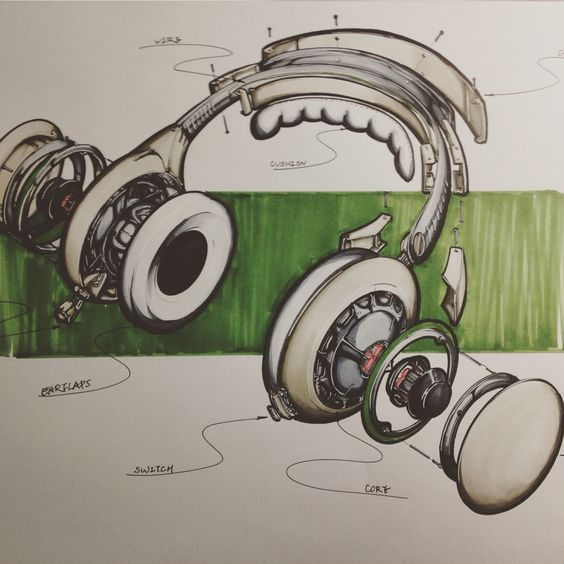 Headphone sketch