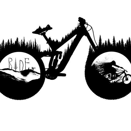 Dh Bike Mountain Bike Art Mountain Bike Tattoo Bicycle Tattoo