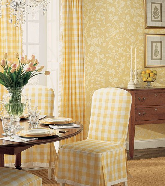 yellow buffalo checks. Hmm...a yellow room? Or a room that has yellow and another color?: