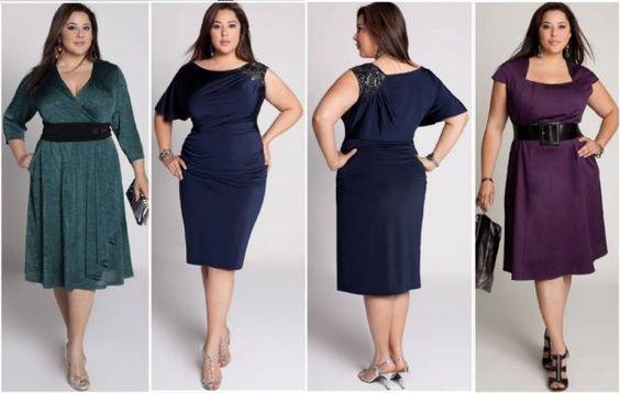 vestidos para gordinhas baixinha - Pesquisa Google