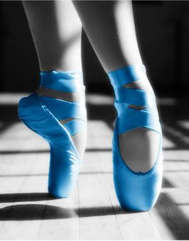 Blue ballet shoes - there should be a ballet called the Blue Shoes