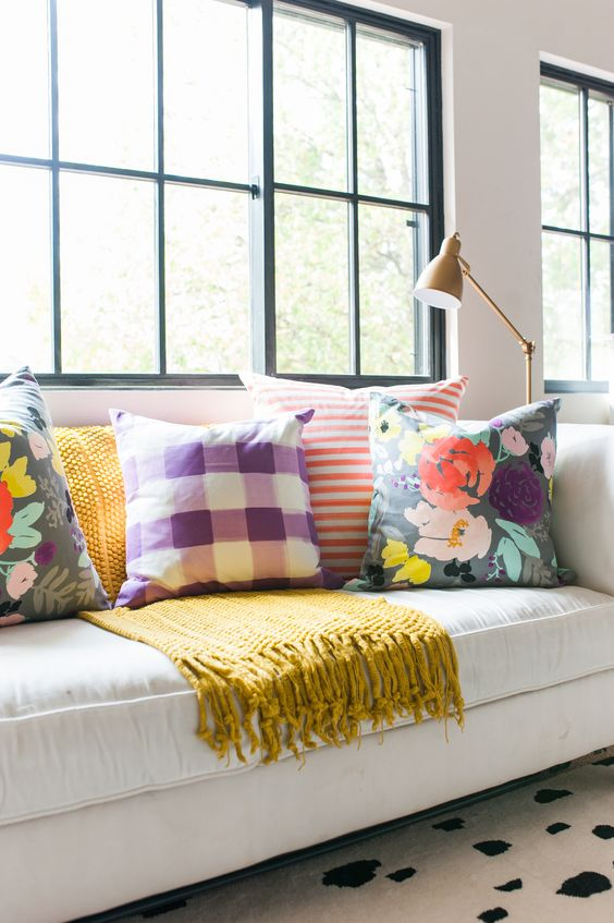 Check out these bright throw pillows!