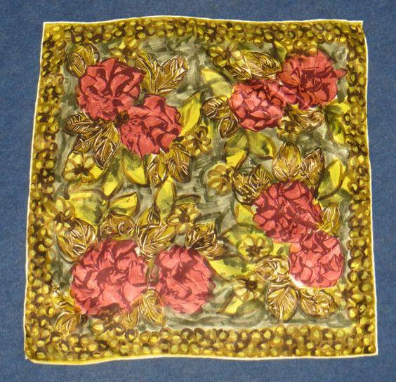 Authentic Vintage 1960's Telsalda Rayon 'Rose' by MislaidVintage, £5.00