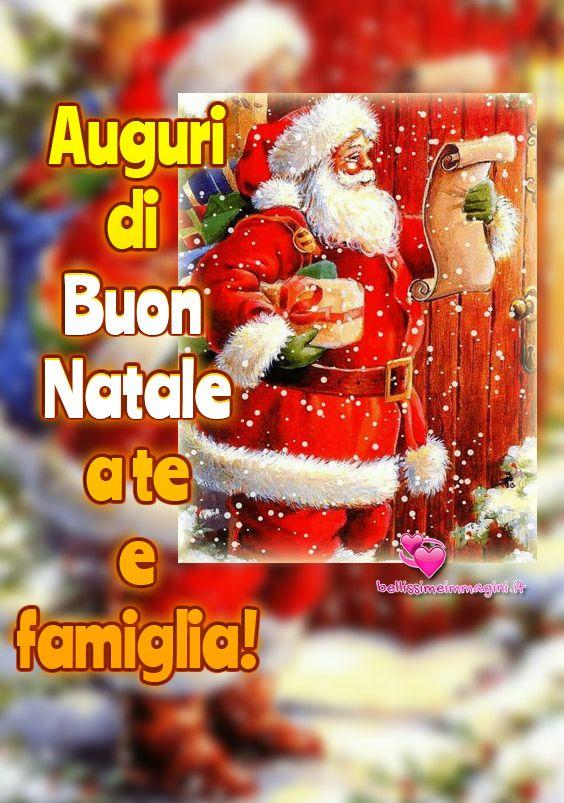 Immagini Belle Per Auguri Di Natale.Auguri Di Buon Natale A Te E Famiglia Auguri Di Buon