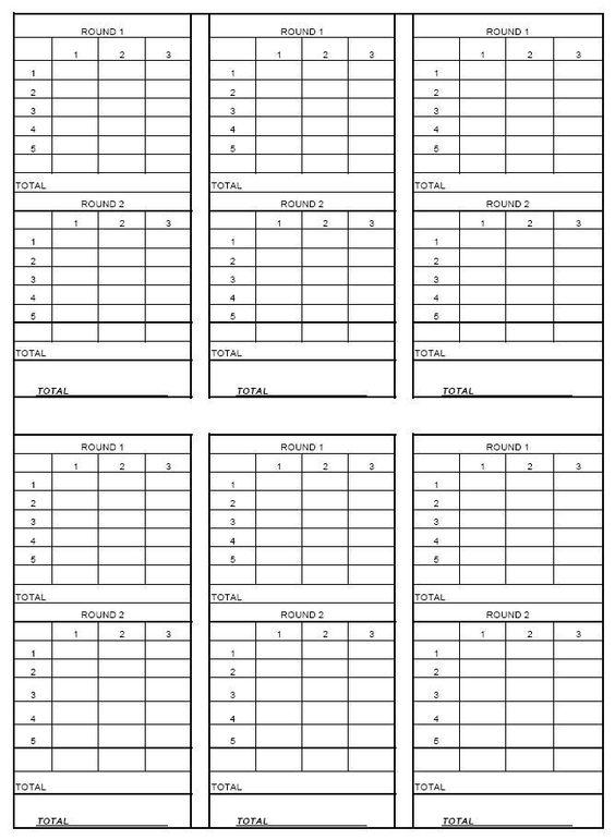 Nasp archery score sheet printable thread score sheet for summer
