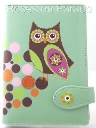 SHAGWEAR RETRO OWL PASSPORT HOLDER & LUGGAGE TAG NWT  #SHAGWEAR