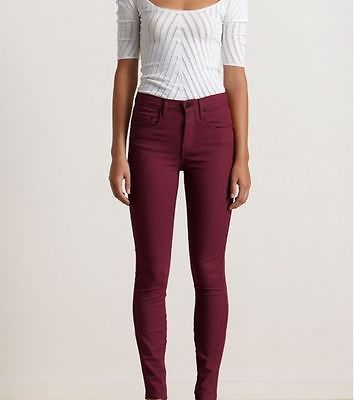 NOBODY cult high rise skinny jeans 6 23 fits 24 burgundy maroon ...