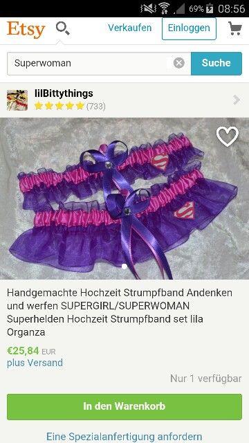 Strumpfband Superwoman