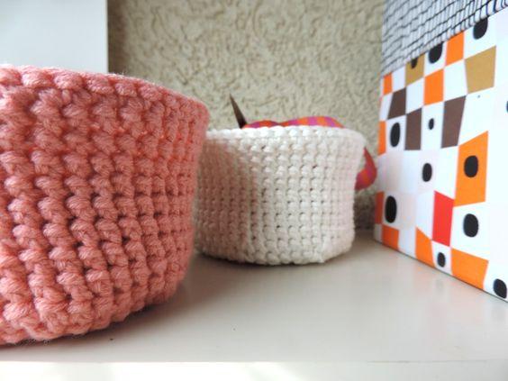 diy des paniers au crochet tuto 8. Black Bedroom Furniture Sets. Home Design Ideas