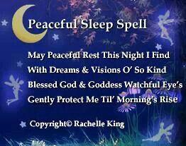 Peaceful Sleep Spell, great simple sleep blessing ...