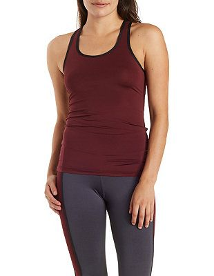 Mesh Racerback Performance Tank Top: Charlotte Russe