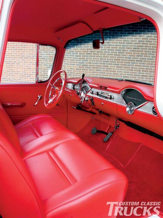 Pickup Trucks 1955 Chevy Truck Interior Diy Interior Truck Interior
