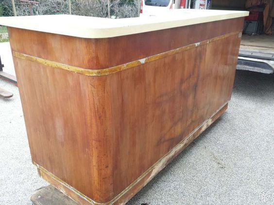 comptoir de bar ancien 1940 jielde tolix bistrot ameublement is re comptoir de. Black Bedroom Furniture Sets. Home Design Ideas