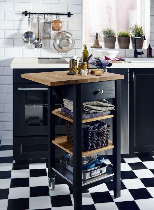 Zwarte keuken, wit blad
