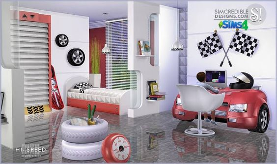 Sims 4 CC's - The Best: Kidsroom by SIMcredible! Designs