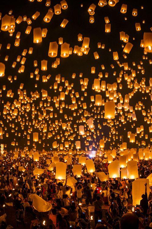 Flying Candles Night Outdoor Party Lighting Wineinajug